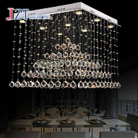 T Best Price Modern Lustre Crystal Chandeliers Crystal Dining room Lamp Droplight Pandent Lamp led light
