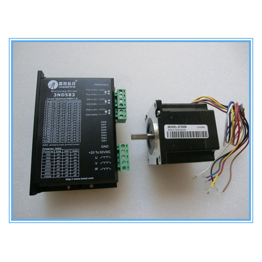 hight resolution of leadshine 573s09 and 3nd583 3 phase 6 wires stepper motor and driver for x axis of 1390 1290 9060 machine