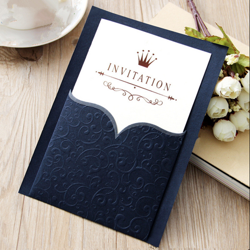High quality 50pcs/lot customized offical business event invitation