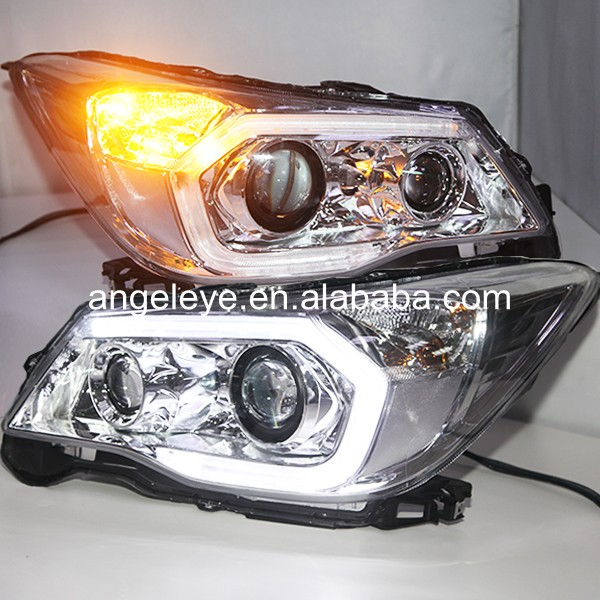 2013-2014 year Chrome Housing for Subaru Forester LED Head Lights with Porjector Lens PW цена 2017
