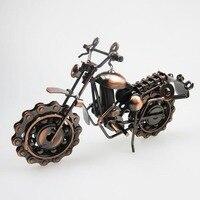 Pure Handmade Iron Motorcycle Model Metal Art Motor Ornaments Antique Motorbike Model Best Home Office Bar