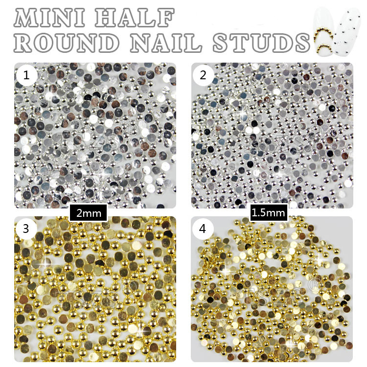 150pcs /lot mini Metallic Rivets 3D Nail Arts