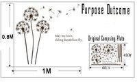45 см * 60 см съемный цветка одуванчика дерево виниловые наклейки Сделай сам стены / холодильник наклейка