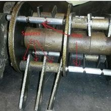 CF158 hammer mill spare parts One set of pins and spacers