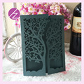 50pcs/lot hot sale chic tree design wedding party decoration paper craft laser cut wedding invitation card greeting card QJ-26