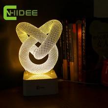 Cnhidee lamparas de mesa caliente nudo chino lámpara de mesa Bed Room Abajur teclas táctiles 3d LED luz luz del escritorio