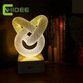 USB Presente Da Novidade Regulável Candeeiro de Mesa em 3D Luz Conduzida Da Noite nó Lampara como Home Decor Quarto Abajur Toque Interruptor Desk luz
