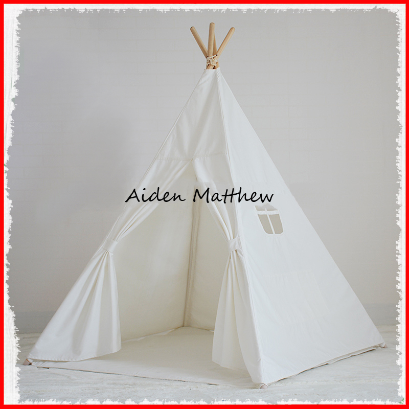 Foldable Kid Indoor Tent Kids Outdoor Playhouse Children Kids Tent Toys Play Tent Game House Indian Teepee new arrival indoor outdoor large children s house game room children s toys 3 in 1 square crawl tunnel folding kid play tent