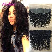 Brazilian Water Wave Lace Frontal Closure Brazilian Virgin Hair Human Hair Weave 13×4 Ear to Ear Brazilian Lace Frontal Closure