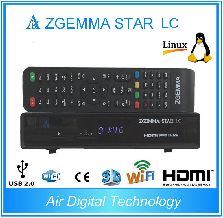 2pcs/lot 2017 New product Zgemma star LC DVB-C Linux Enigma 2 Linux HD Digital Receiver PVR Ready 10pcs zgemma star i55 support satip iptv box bcm7362 dual core mainchipset 2000 dmips cpu linux enigma 2 hdmi connection