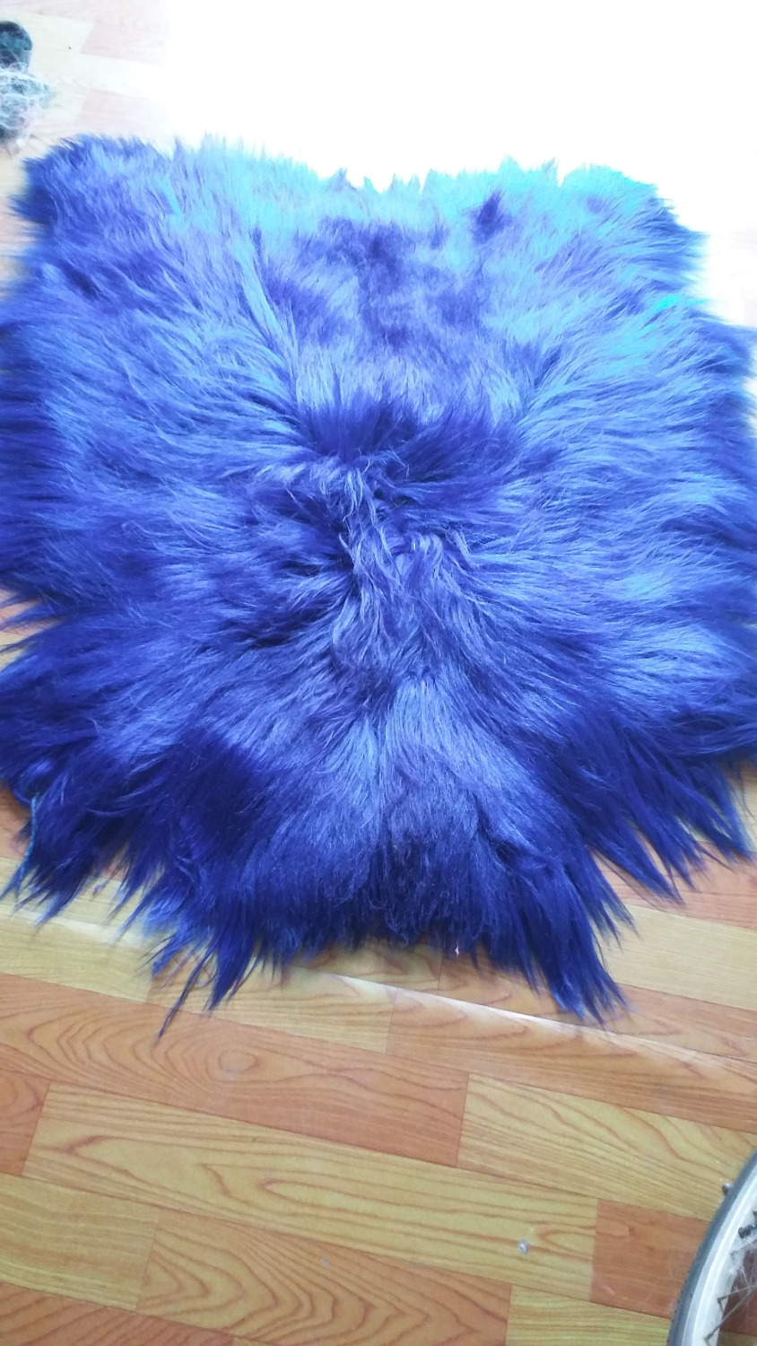 Tibetan Lamb Rug Mongolian Lamb Skins / Black Goat Fur - Arts, Crafts and Sewing - Photo 3