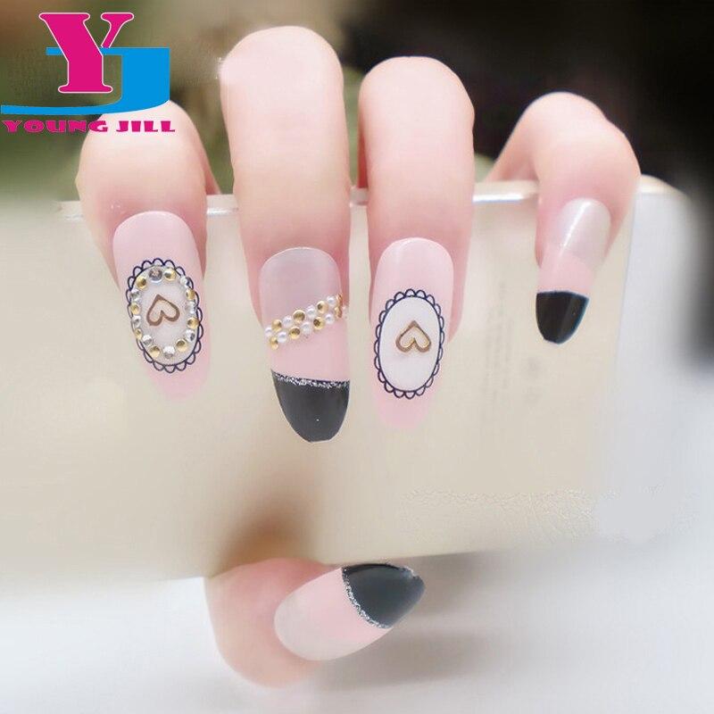 500 Pcs Fashion Acrylic False French Fake Nails Full Cover Nail Art