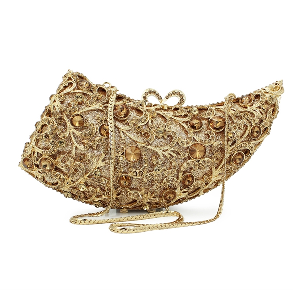 hard metal box gold ox horn stone clutch evening bag gold new model crystal purses and ladies handbag (88123A-G) new sequin clutch bag finger ring evening bag hard box clutch chain sshoulder bag crossbody bags for women purses and handbags