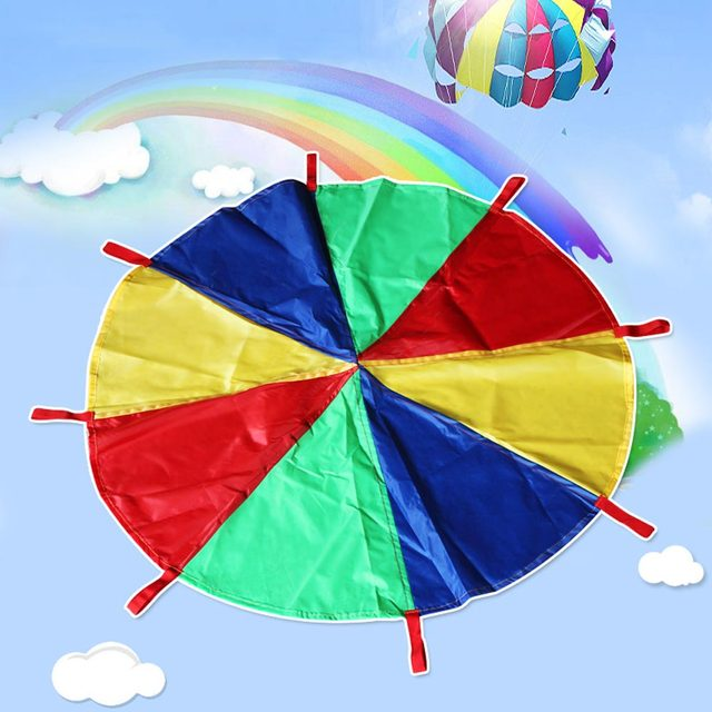2m 3m Children Kids Play Rainbow Parachute Outdoor Sport Exercise Group Toy