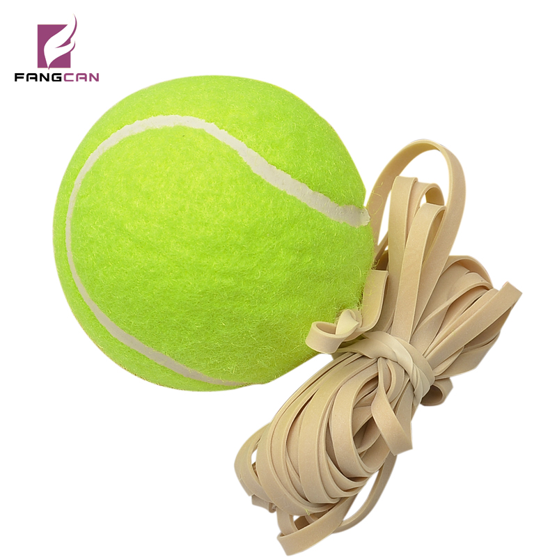 2 pz / lotto FANGCAN FCA-03 Training Tennis Ball con Yellow Square Elastic Rope 1.3 m Rebounce Single Training Ball con rebounce