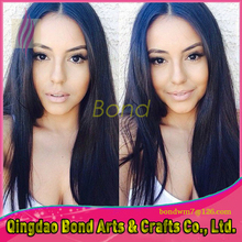 7A Brazilian Natura Straight Full Lace Wig Unprocessed Human Hair Glueless Full Lace Front Wig With Baby Hair For Black Women