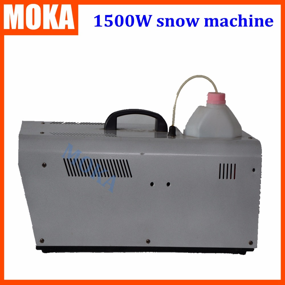 1500W  Stage FX Snow Machine wire contol DMX 512 control Snow Cover 60m3 for  Party KTV Stage Performance special effects  недорого