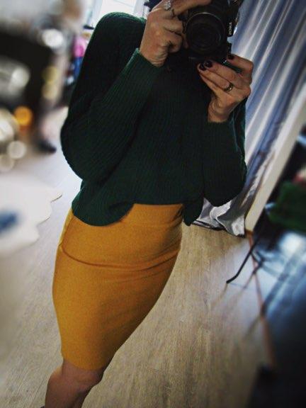 Теплая трикотажная юбка с Алиэкспресс