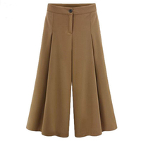 Plus Size Women S Bottoms Ankle Length Wide Leg Trousers For Women High Waist Pants Pleated