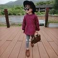 Autumn girls dresses cotton long sleeve girls clothes Printing Floral children Princess dresses 2 colors kids dresses for girls