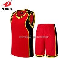 Hot sale XL-5XL Unique Design sleeveless V-neck Men's Basketball Sportswear Set
