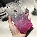 Chegada de novo! piscando rainbow gradiente série tpu soft case para iphone 7 7 plus 6 s 6 s plus