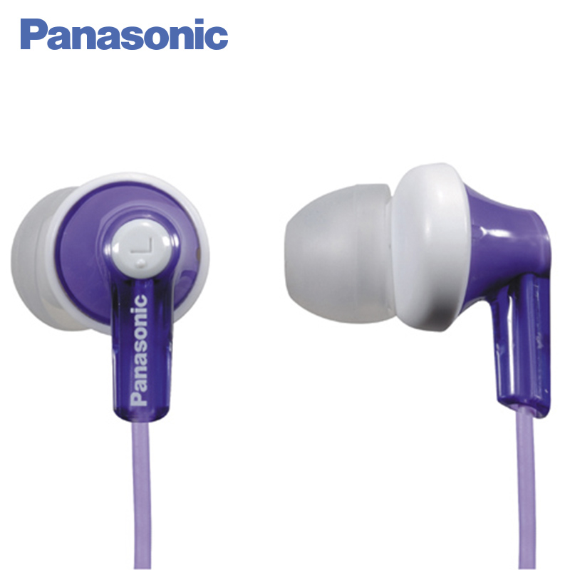 Panasonic RP-HJE118GUV In-Ear miniature headphones channel type Ergonomic design Ergofit panasonic rp tcm50e k in ear headphones microphone and remote control compatible with smartphone clear bass sound custom design