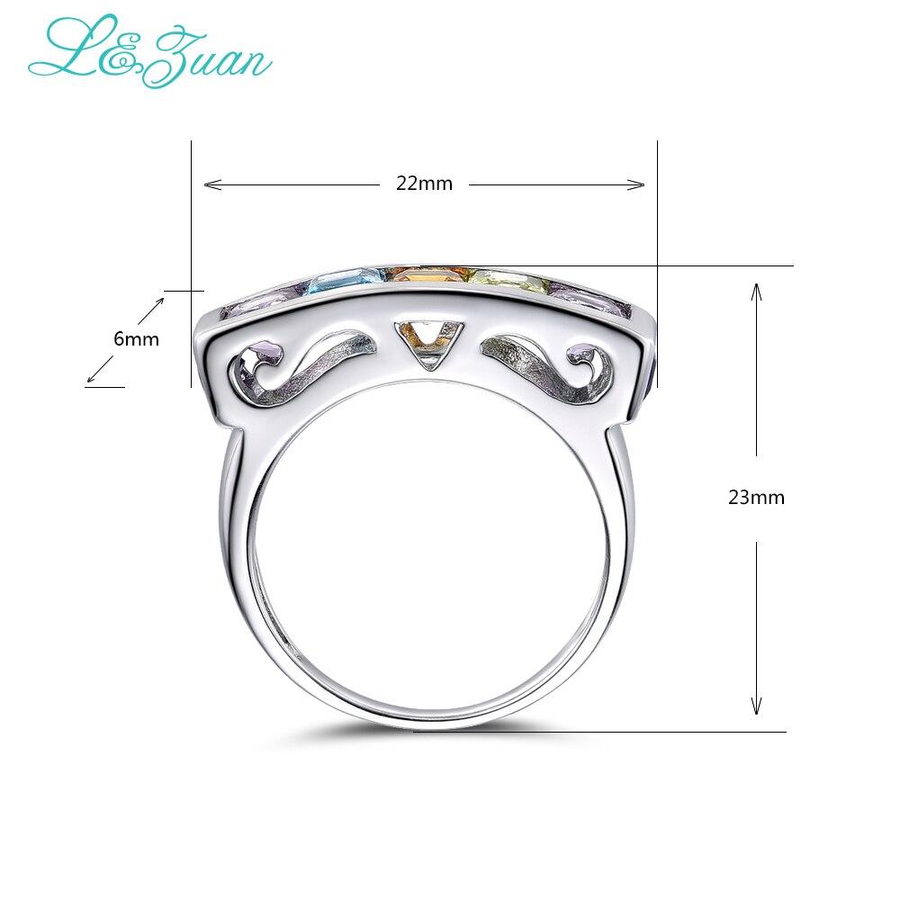 I & Zuan Edlen Schmuck 925 Sterling Silber Ring Natürlichen Amethyst - Edlen Schmuck - Foto 2