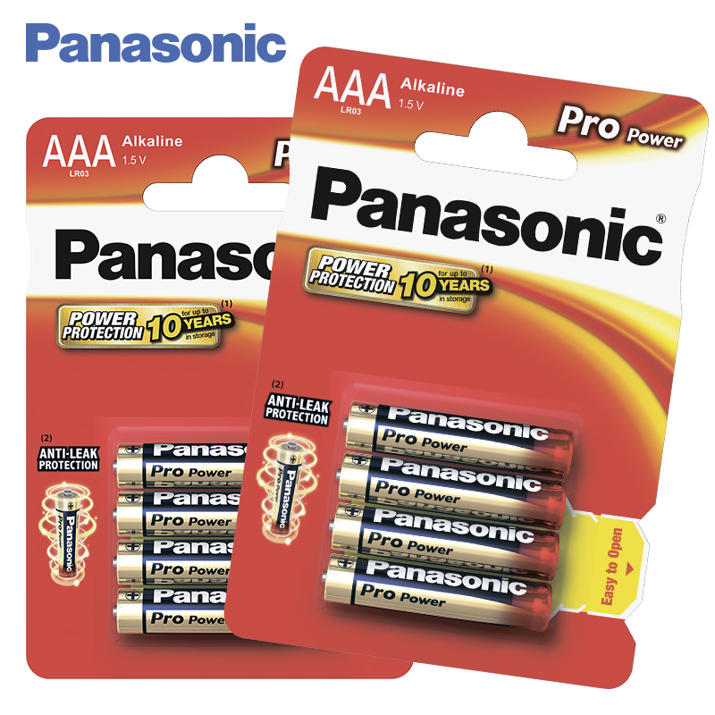 Panasonic LR03XEG/4BP Batteries 2 bl/8 ps Alkaline Pro Power AAA 1.5V For devices with medium and low energy consumption power energy consumption watt meter uk plug