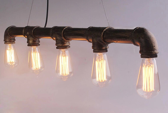 Kronleuchter Industrial ~ M american industrial sanitär lampe retro nostalgie bar restaurant