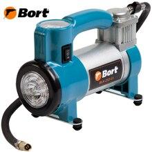 Компрессор автомобильный Bort BLK-252-Lt (Максимальное давление 7 Бар, производительность 25 л/мин, в комплекте сумка и 3 насадки)