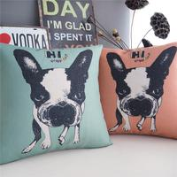 High Quality Throw Pillow Cover 3D 1 Side Printing Cotton Linen Mangy Dog Cushion Cover For Couch 45*45cm Printed Pillowcases