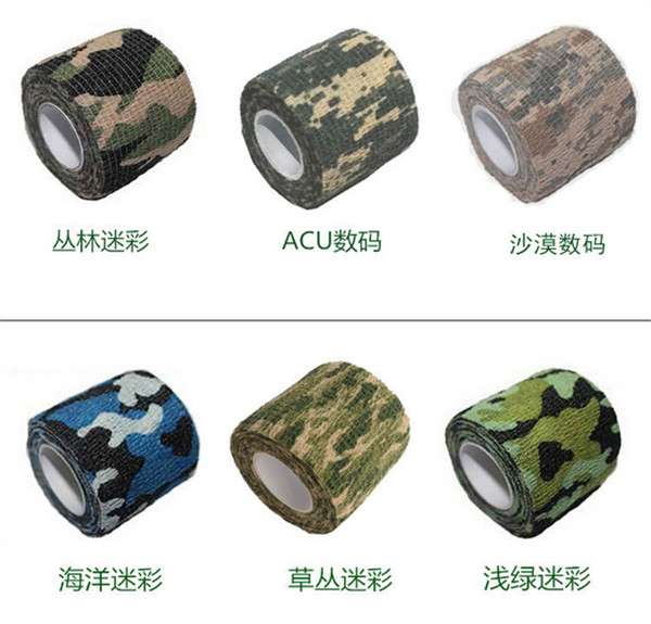 200 pcs Camera Gun Camouflage Tape Stretchable Army Game Survival Jungle Adventure Wrap Hunting Tapes Telescope Rifle Sticker
