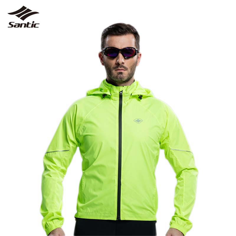 ФОТО 2017 Santic Waterproof Cycling Jerseys Rain Jacket Maillot Ropa Ciclismo Windproof Windcoat Bicycle Clothing MTB Bike Raincoat