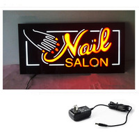 LED Open Signs NAIL SALON LED NAIL EPOXY SIGN Animated Motion Display Flashing On Off Switch