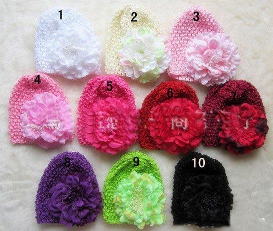2013 одежда высшего качества 50 шт. корейский шелк волос кепки капот цветок пион+ шляпа 10 цветов пятно