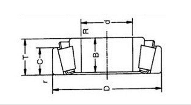 30*47*12 мм 32906 конический роликовый подшипник 4 шт./лот