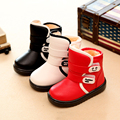 Lovely kids boots PU leather waterproof boys martin boots 3 colors girls boots fashion children shoes for girls&boys shoes