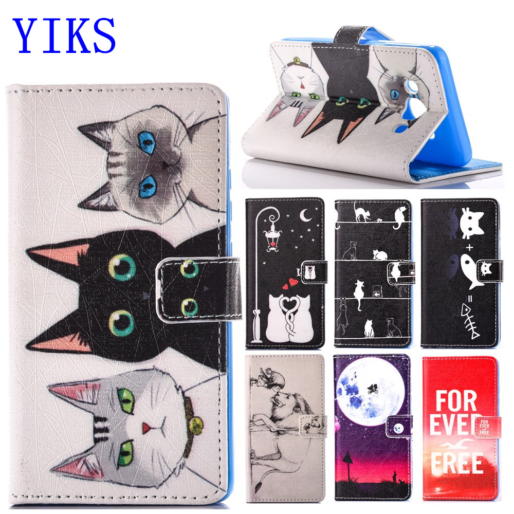 Galleria fotografica For Coque Samsung Galaxy J5 2016 J510 Case Cartoon Cat Leather Cover for funda samsung J5 Case 2016 new arrival for Galalxy J510