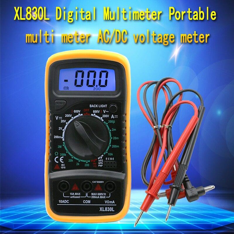 Haute Qualité De Poche Compte Avec LCD Numérique Multimètre Testeur XL830L Sans Batterie