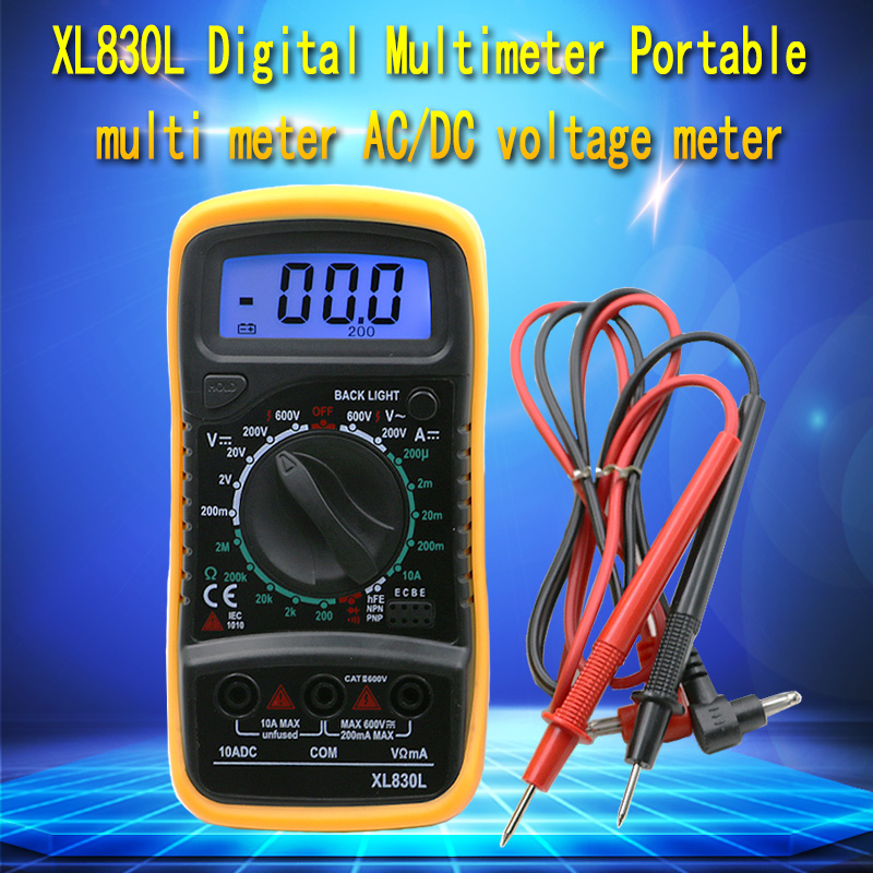 High Quality Handheld Counts With LCD Digital Multimeter Tester XL830L Without Battery slinx men women 1109 5mm neoprene fleece lining warm jacket wetsuit kite surfing windsurfing swimwear boating scuba diving suit