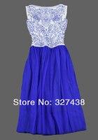 европа и соединенные штаты женщин новый классический китайский синий и белый фарфор вышивка элегантное платье без рукавов платье