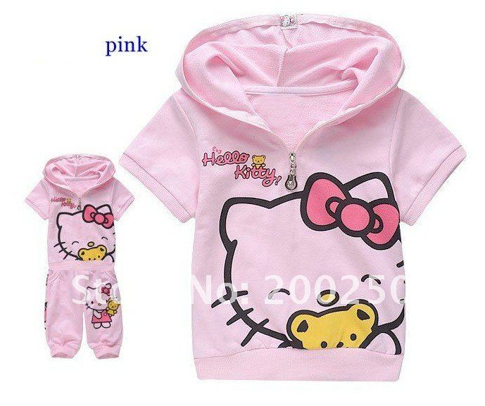 5638e559b 5 sets lot Children Cartoon Hello Kitty Sports Clothes Sets Girls ...