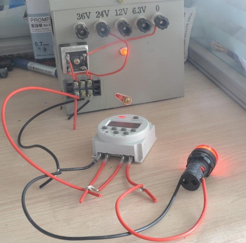 2nd timer switch 220V 110V 24V 12V CN101A with wire connector-in ...