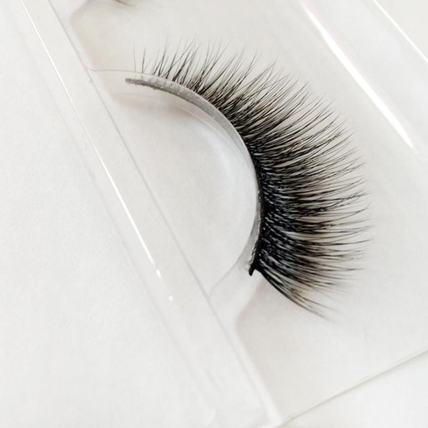 123cc8a01bb Dazzling Girl Store 1Pairs Long False Eyelashes Makeup Natural Fake Thick  Black Eye Lashes image