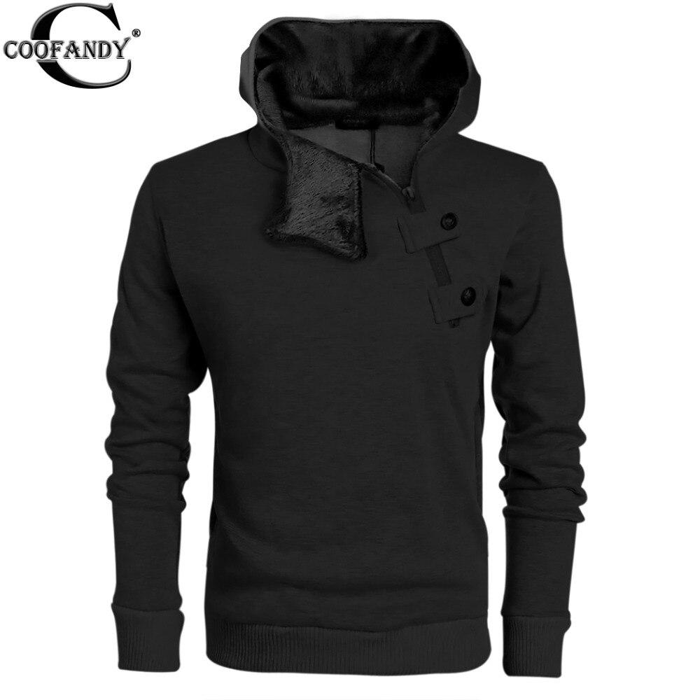 Mens jacket half - Coofandy Mens Casual Luxury Buckle Hoodie Slim Cotton Sweatshirts Side Half Zip Casual Hoodies Coat Jacket