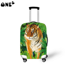 ONE2 amazing design fashion travel luggage cover animal pattern good quality 22,24,26 inch for suitcase girls