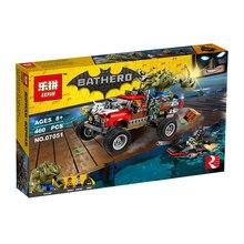 New 460Pcs Lepin 07051 Batman Movie Series The Killer Crocodile Tail-Gator 70907 Building Blocks Bricks Educational Toys