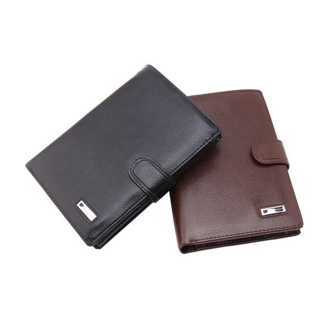 2016 new designer pu leather travel male coin purse cuzdan mutiple luxury brand clutch card cover Brown money men's wallet