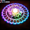 M Open Covered Installation Lamp Colored K9 Crystal Round Ceiling Light Clear Crystal Living Room Corridor